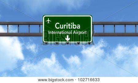 Curitiba Brazil Airport Highway Road Sign