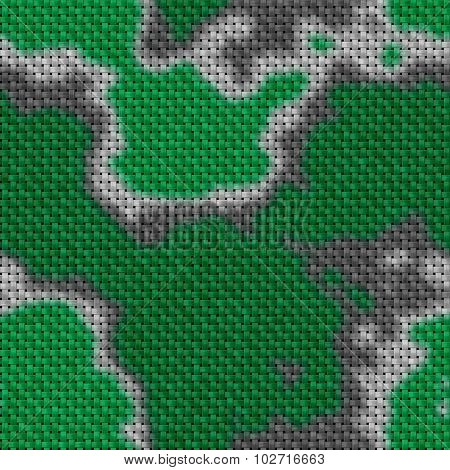 Military texture in the background. Woven fabric with a camouflage pattern.