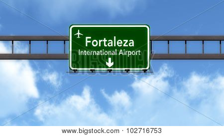Fortaleza Brazil Airport Highway Road Sign