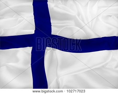 Flag Of Finland And Heart