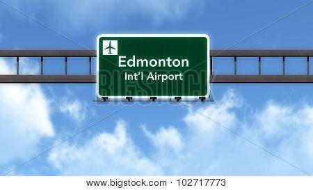 Edmonton Canada Airport Highway Road Sign