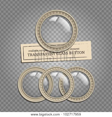 Transparent Glass Buttons