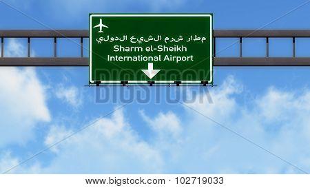 Sharm El Sheikh Egypt Airport Highway Road Sign
