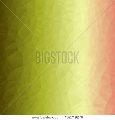 Abstract Romantic Tender Polygonal Background In Light Pink, Yellow And Green Colors.  Best Suited F