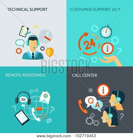 Remote Assistance And Technical Support Banners