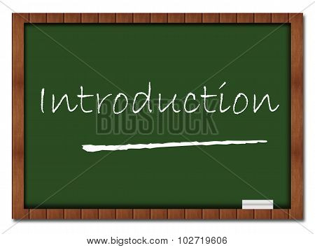 Introduction Text Classroom Board