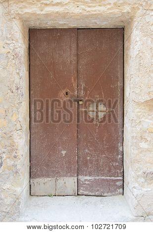 Authentic Shabby Brown Door