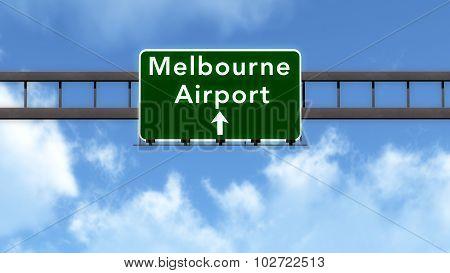 Melbourne Australia Airport Highway Road Sign