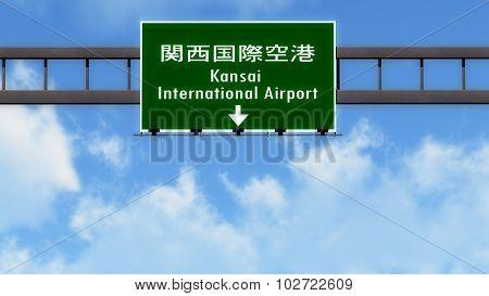 Osaka Kansai Japan Airport Highway Road Sign