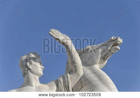 Sculpture Of A Warrior