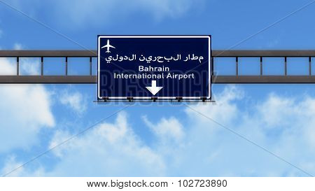 Bahrain Airport Highway Road Sign