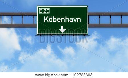 Copenhagen Denmark Highway Road Sign