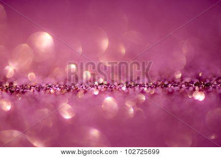 Abstract & Festive Background With Bokeh Defocused Lights -