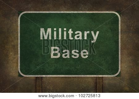 Military Base Roadside Sign