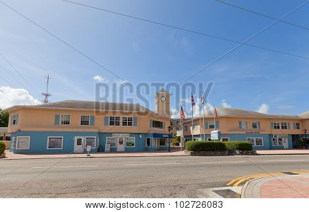 Elizabethan Square In George Town Of Grand Cayman Island