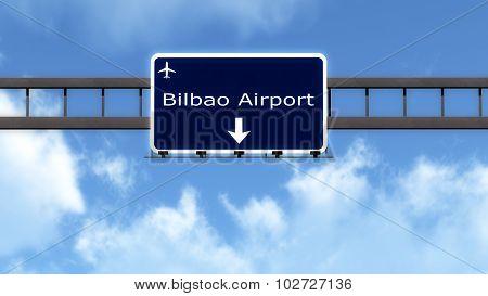 Bilbao Spain Airport Highway Road Sign