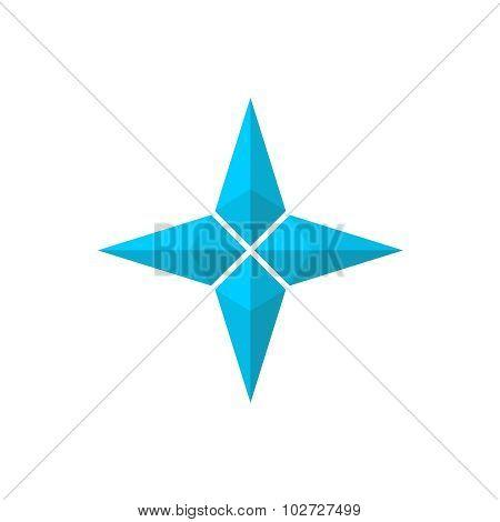 Four Rays Pseudo 3D Star