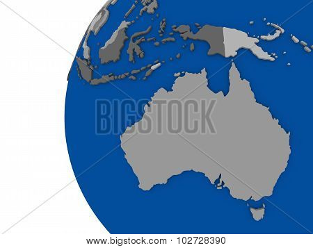 Australian Continent On Political Globe