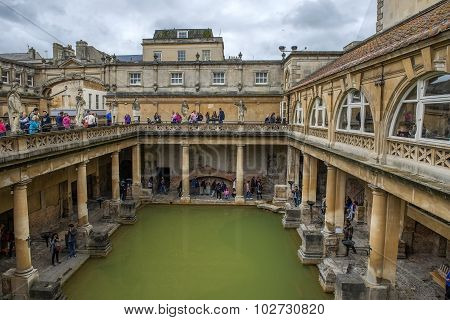 Ancient Roman Baths, City Of Bath, England