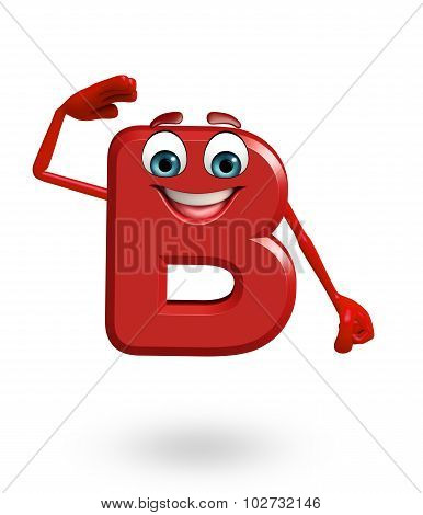 Cartoon Character Of Alphabet B