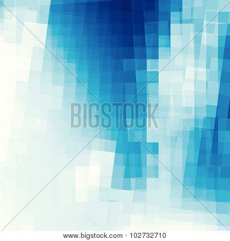 abstract background with curved lines in blue and white