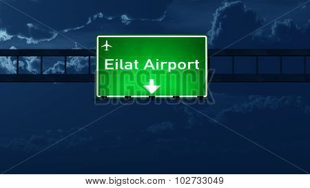 Eilat Airport Highway Road Sign