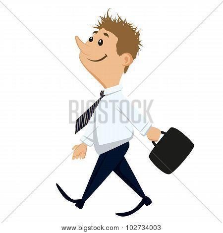 Happy Working Man