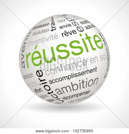 French Achievement Sphere With Keywords