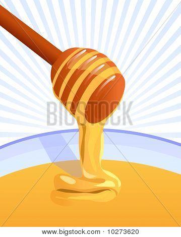 honey stick background