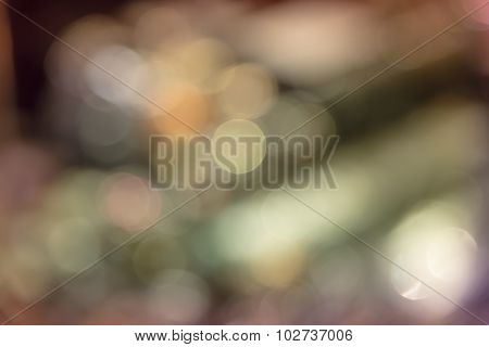 Abstract Blur Bokeh Defocused Of Light In City  Split-tone Background Rainbow Pastel