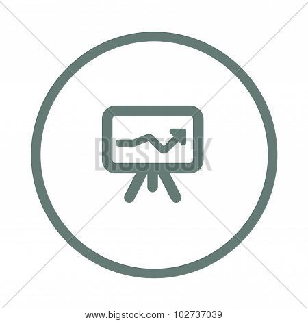 Business Growing Chart Presentation Icon