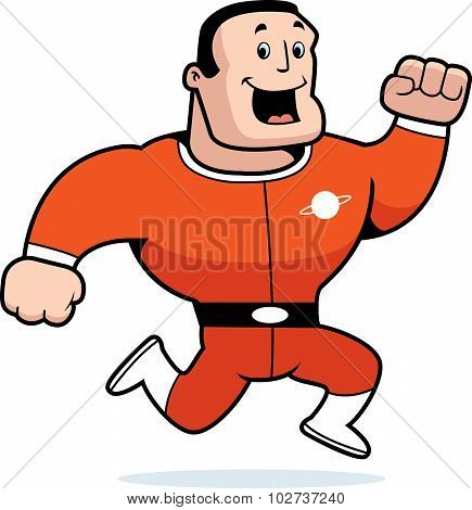 Astronaut Running
