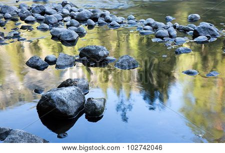 Merced River Reflections, Yosemite National Park, California