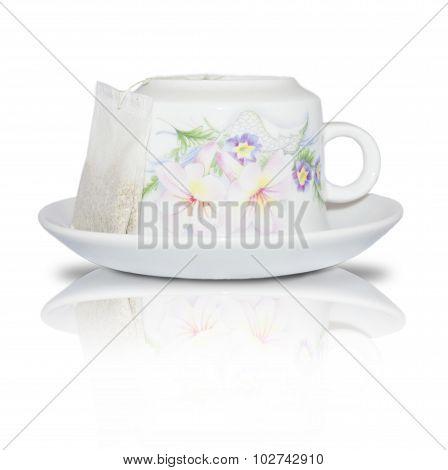 Elegant white cup