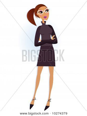 Professional Businesswoman isolated on white background