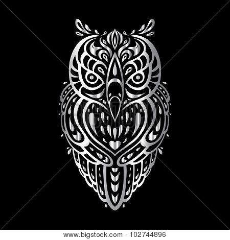 Owl. Tribal pattern