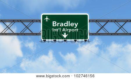 Hartford Usa Airport Highway Sign