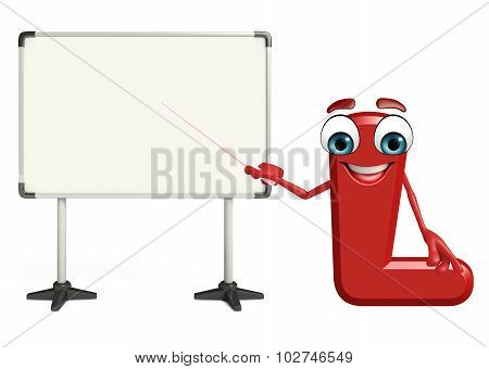 Cartoon Character Of Alphabet L With Notepad