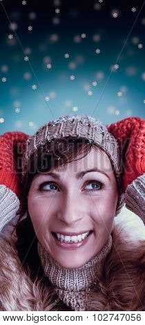 having fun in wintertime female portrait