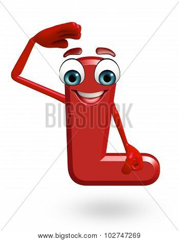 Cartoon Character Of Alphabet L