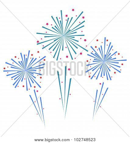 Sketch abstract colorful exploding firework