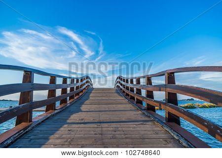 Bridge in Levkas city on Lefkada island in Greece