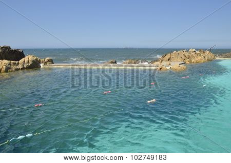 Natural Pool In The Atlantic Ocean