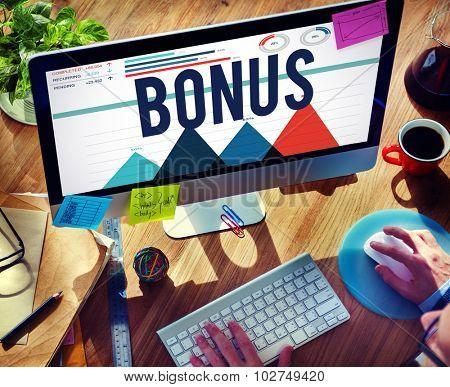 Bonus Payment Incentive Profit Compensation Concept