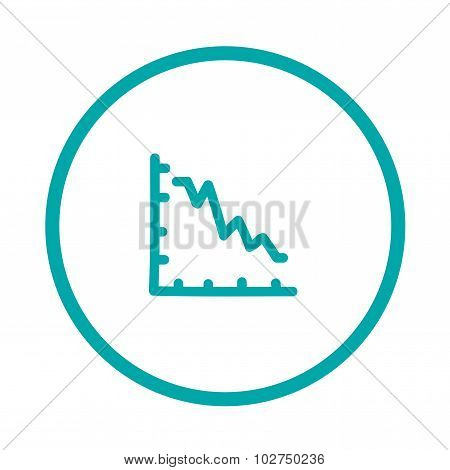 Declining Graph Icon - Declining Chart Icon