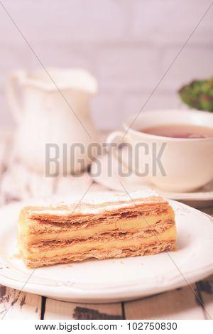 Sweet piece of Napoleon cake