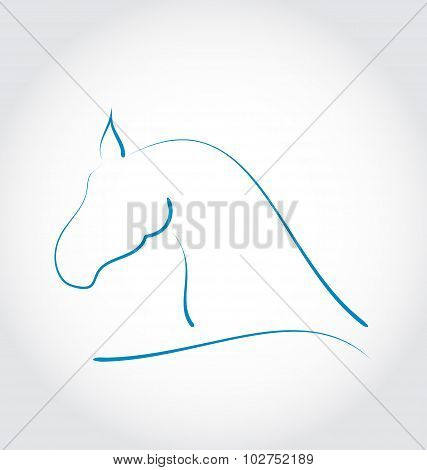 Sign horse isolated on white background