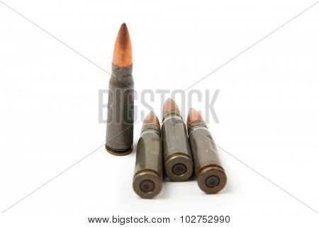 bullets, isolated on white background