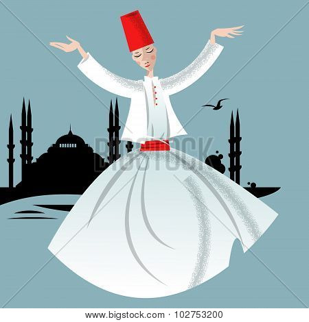Whirling Dervish. Istanbul.