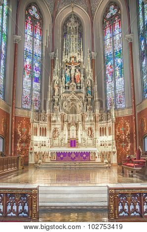 Saint Louis, United States-March 11: St. Frances Desales Oratory